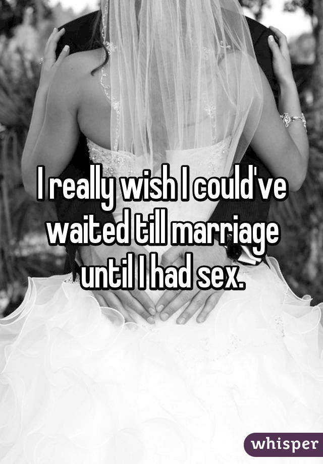 Waiting For Marriage To Have Sex 103